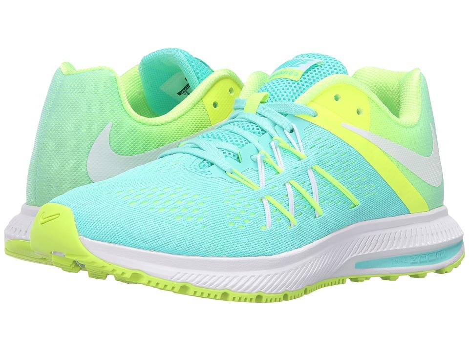 Nike - Zoom Winflo 3 (Hyper Turquoise/White/Volt/White) Women's Running Shoes