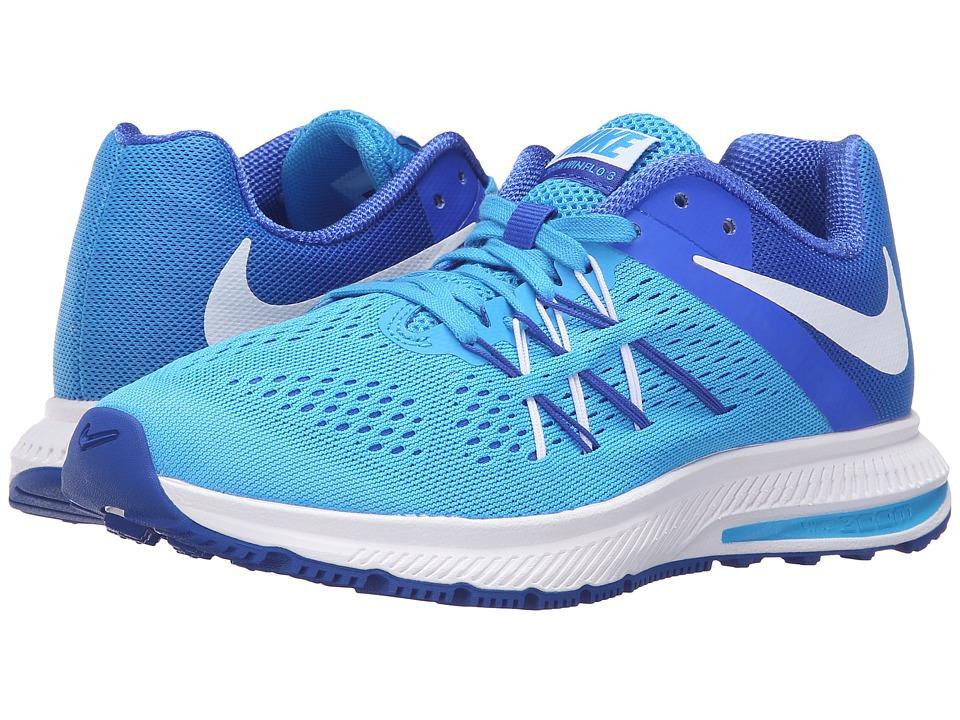 Nike - Zoom Winflo 3 (Blue Glow/White/Racer Blue/White) Women's Running Shoes