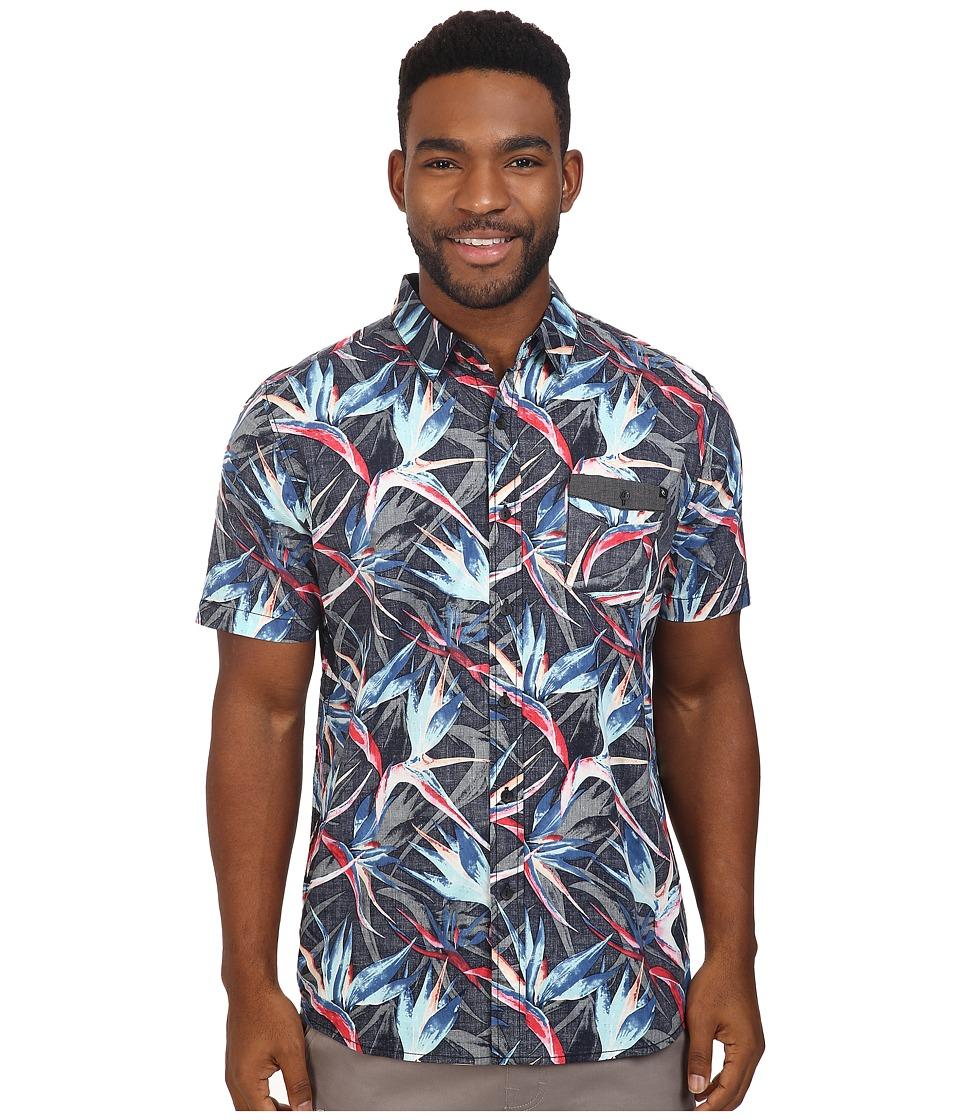 Rip Curl - Sanctum Short Sleeve Shirt (Black) Men's Clothing