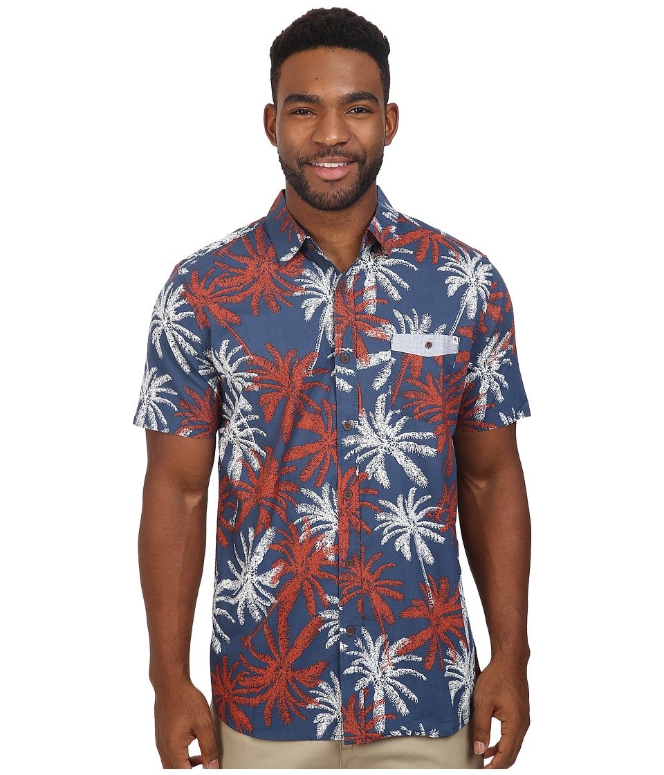 Rip Curl - Sanctum Short Sleeve Shirt (Navy) Men's Clothing