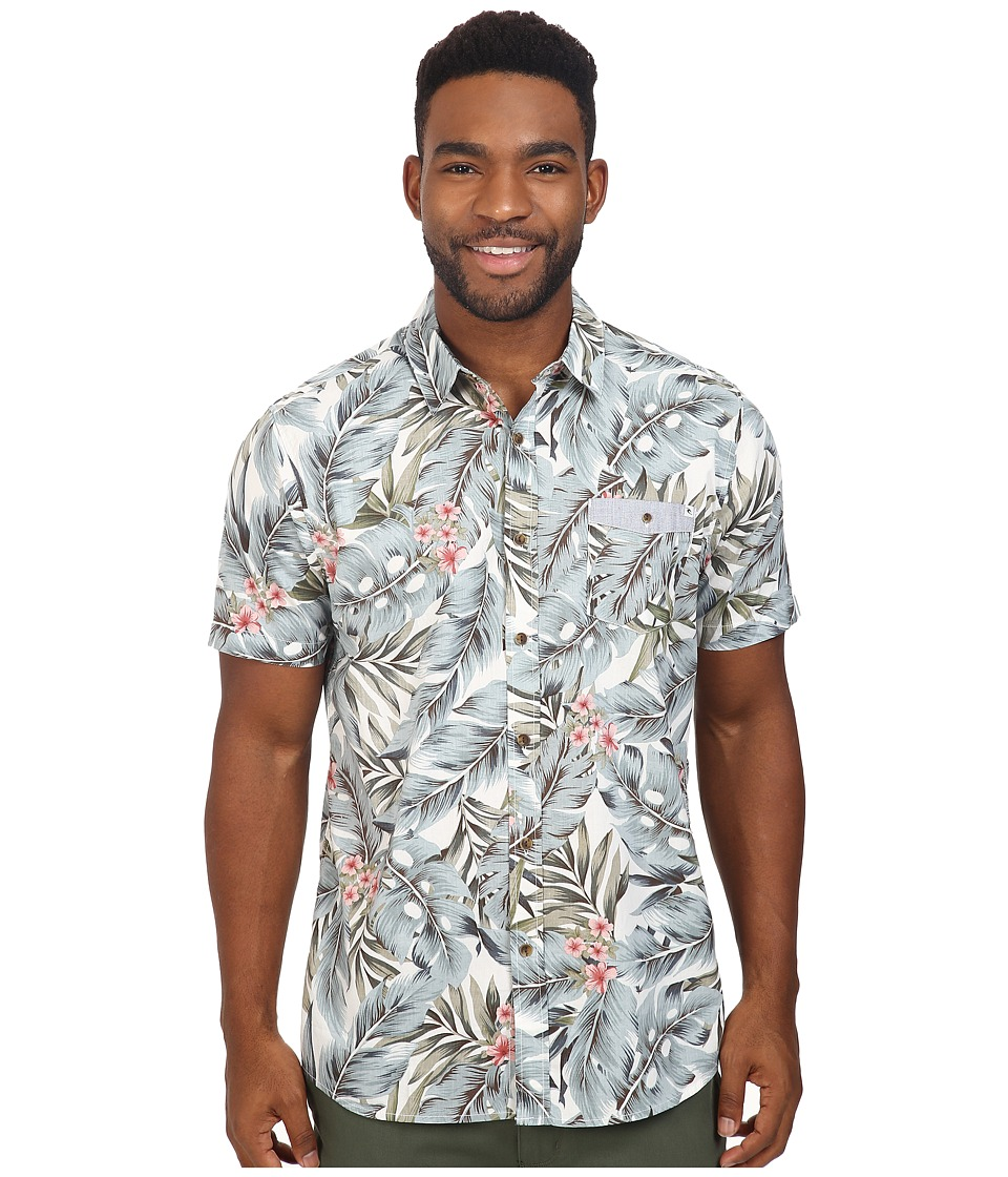 Rip Curl - Sanctum Short Sleeve Shirt (Off-White) Men's Clothing