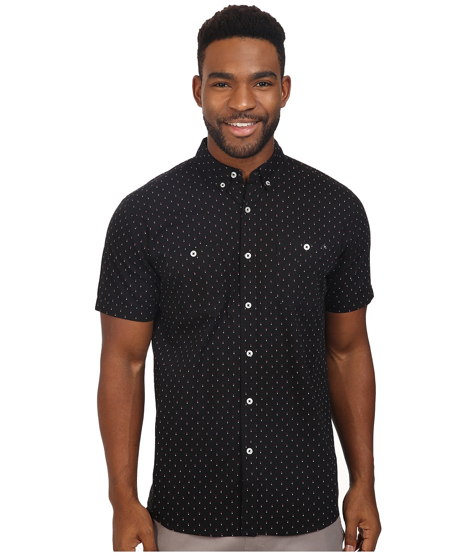 Rip Curl - Slyke Short Sleeve Shirt (Black) Men's Clothing
