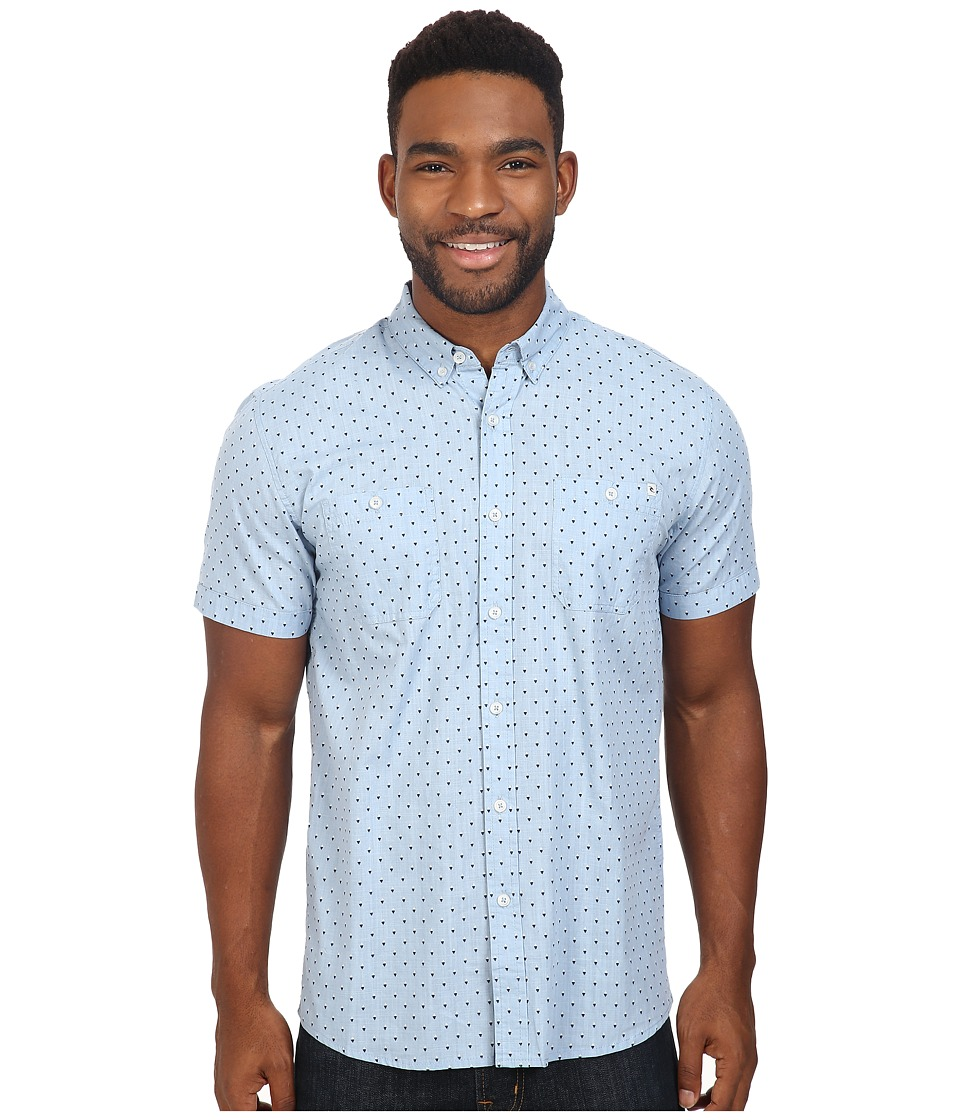 Rip Curl - Slyke Short Sleeve Shirt (Blue) Men's Clothing