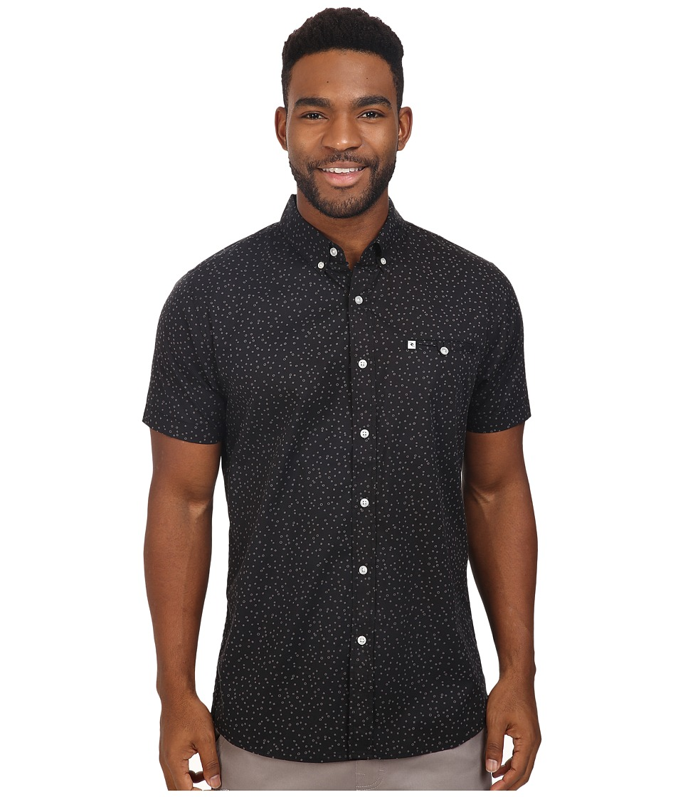 Rip Curl - Mix Master Short Sleeve Shirt (Black) Men's Clothing