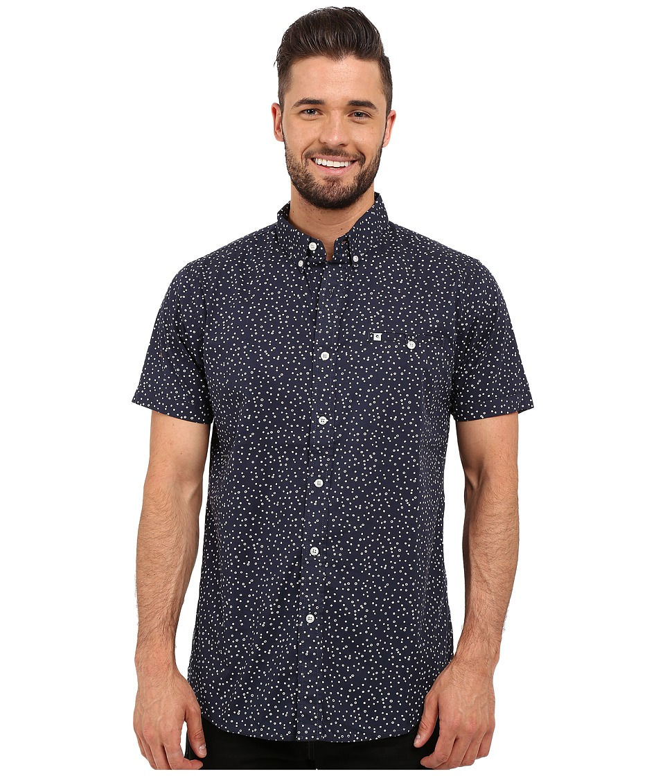 Rip Curl - Mix Master Short Sleeve Shirt (Navy) Men's Clothing