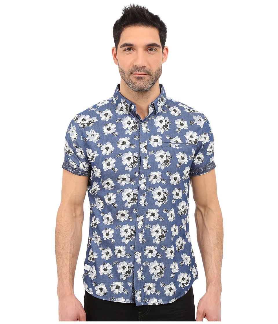 7 Diamonds Ashbury Short Sleeve Shirt (Navy) Men