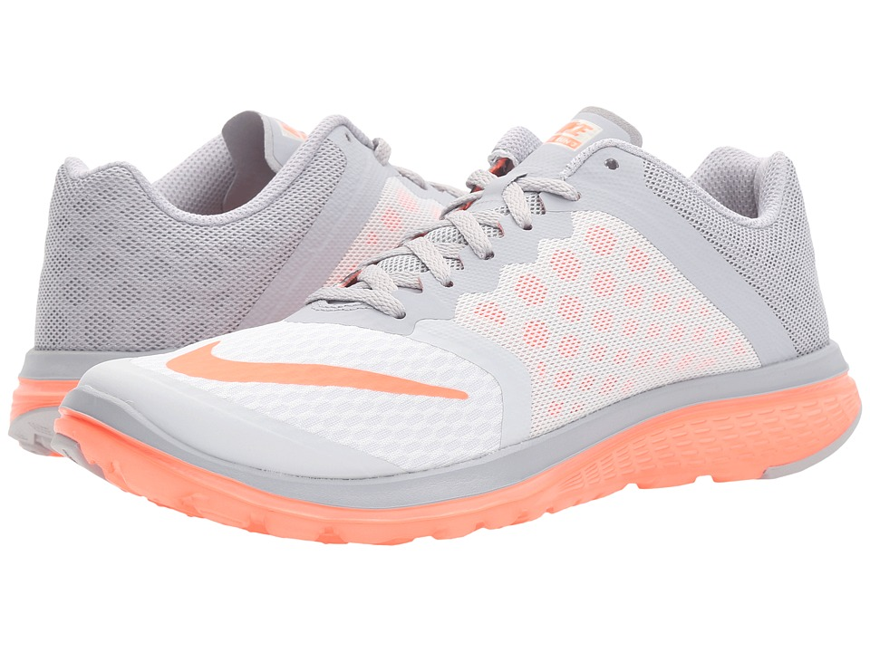Nike - FS Lite Run 3 (Pure Platinum/Bright Mango/Wolf Gray) Women's Running Shoes