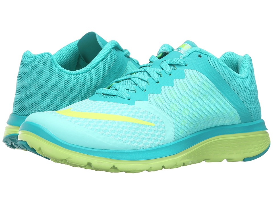 Nike - FS Lite Run 3 (Hyper Turquoise/Volt/Clear Jade/White) Women's Running Shoes