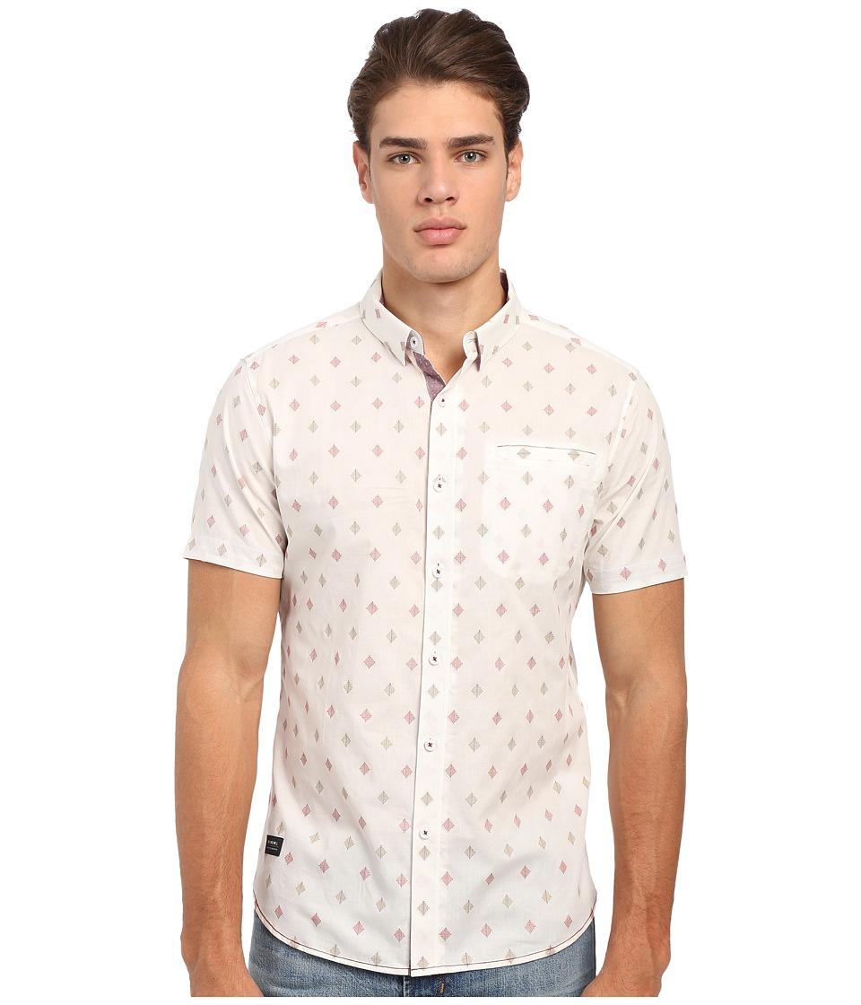 7 Diamonds Aztec Diamond Short Sleeve Shirt (White) Men