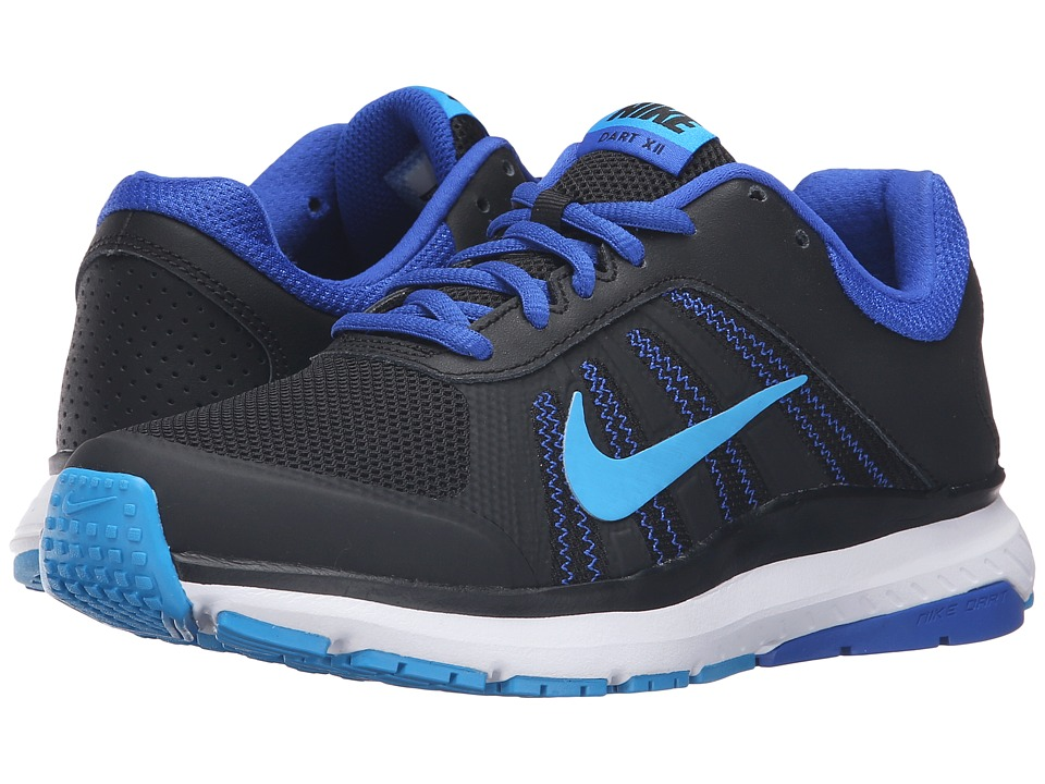 Nike - Dart 12 (Black/Blue Glow/Racer Blue/White) Women's Running Shoes