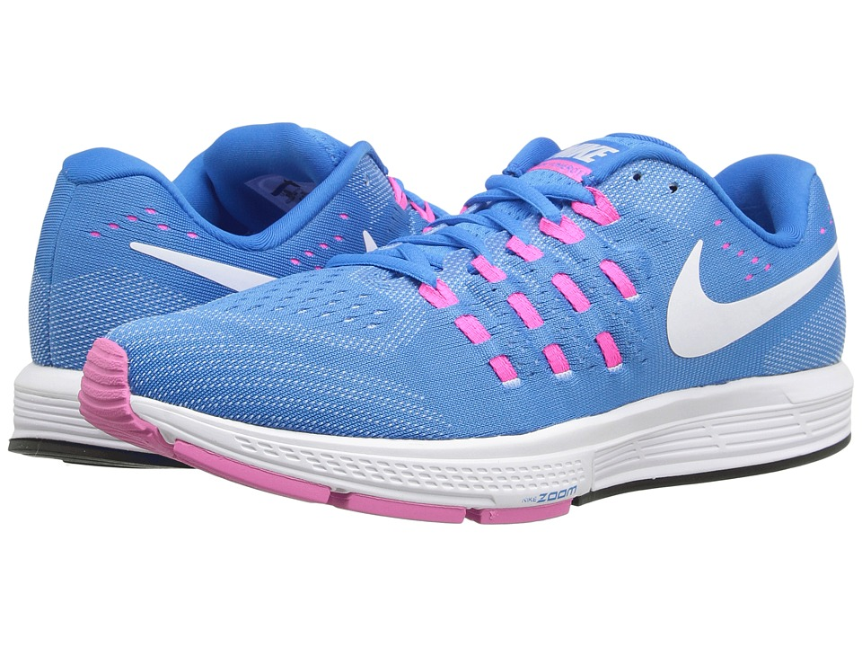 Nike - Air Zoom Vomero 11 (Blue Glow/White/Pink Blast/Photo Blue) Women's Running Shoes