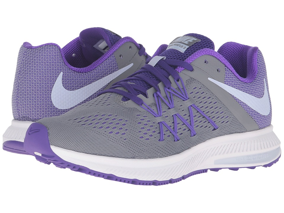 Nike - Zoom Winflo 3 (Cool Gray/Palest Purple/Fierce Purple/White) Women's Running Shoes