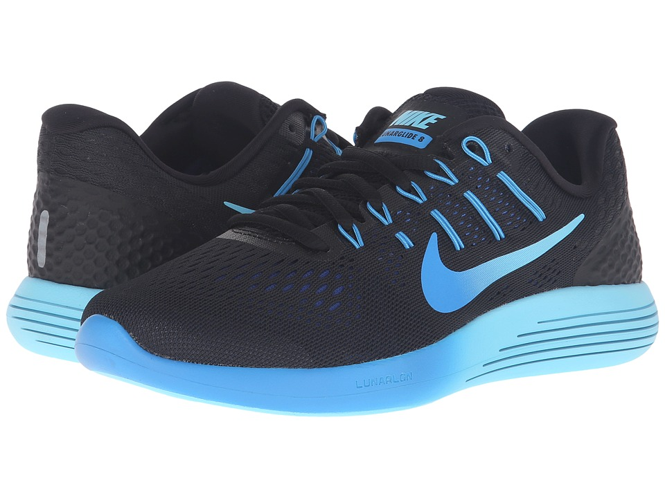 Nike - Lunarglide 8 (Black/Multicolor/Deep Royal Blue/Photo Blue) Women's Running Shoes