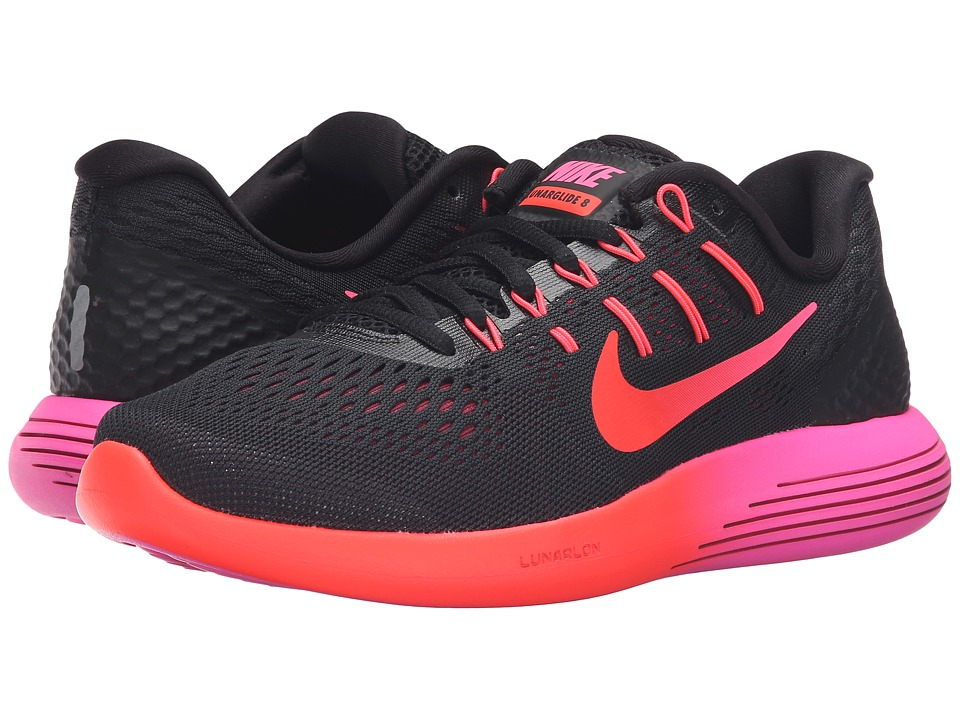 Nike - Lunarglide 8 (Black/Multicolor/Noble Red/Bright Crimson) Women's Running Shoes