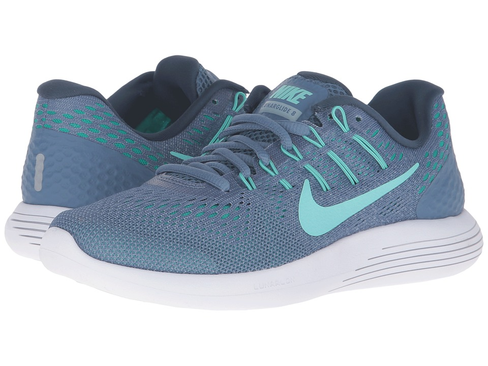 Nike - Lunarglide 8 (Ocean Fog/Hyper Turquoise/Blue/Grey) Women's Running Shoes