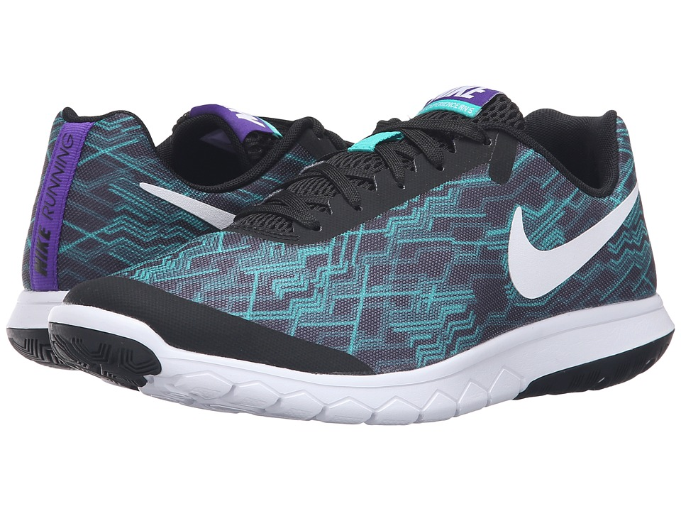 Nike - Flex Experience RN 5 Premium (Black/White/Clear Jade/Fierce Purple) Women's Running Shoes