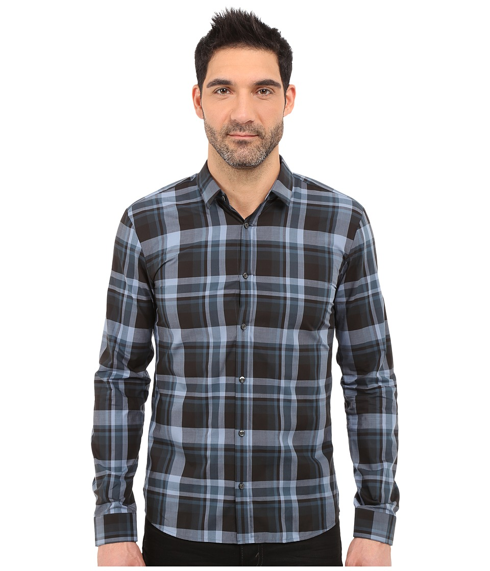HUGO - Ero - Check Woven (Grey) Men's Clothing