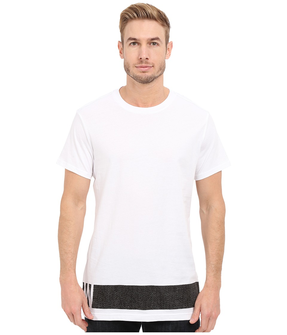 G-Star - Stonum Short Sleeve Crew Neck Long Tee in Compact Jersey (White) Men's T Shirt
