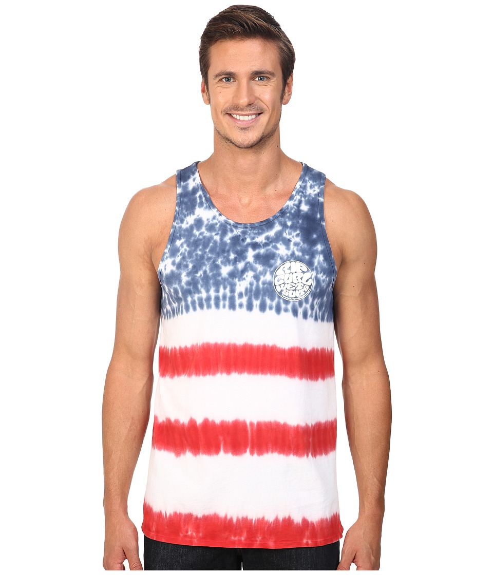 Rip Curl - Stars and Stripes Custom Tee (Red) Men's T Shirt