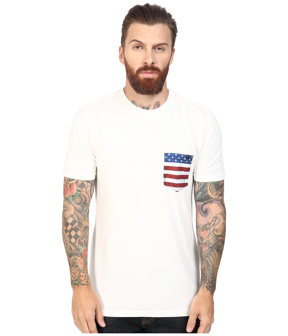 Rip Curl - Americana Custom Pocket Tee (Off-White 1) Men's T Shirt