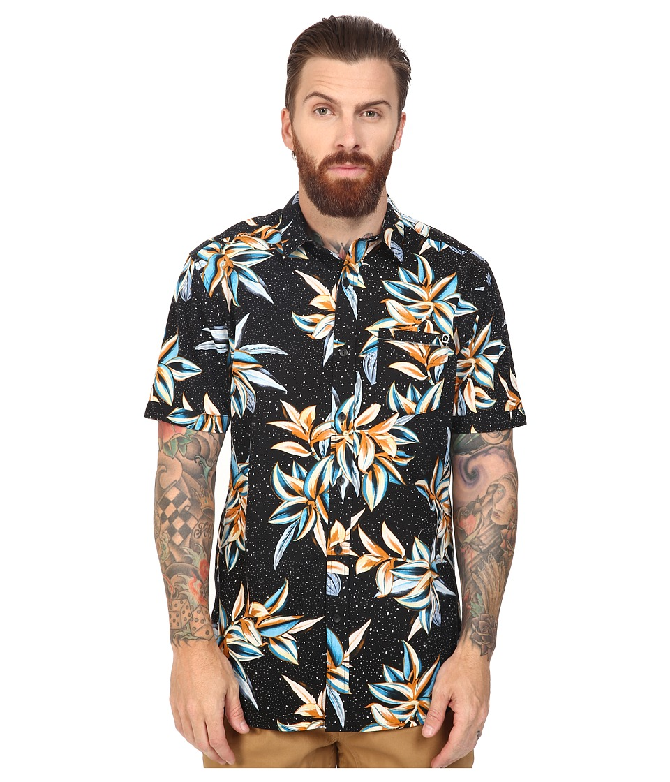 Rip Curl - Gloria Short Sleeve Shirt (Black) Men's Clothing