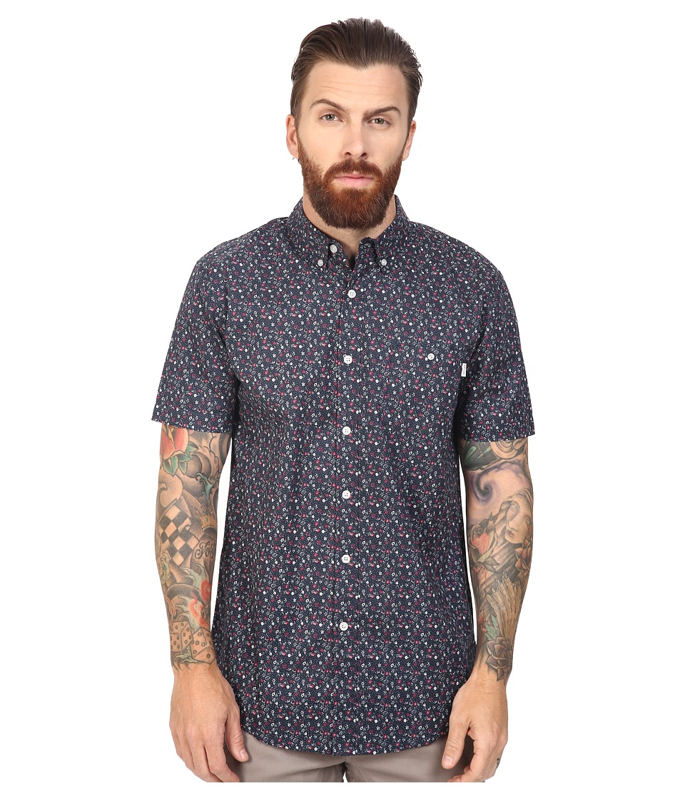 Rip Curl - Flower Fun Short Sleeve Shirt (Navy) Men's Clothing
