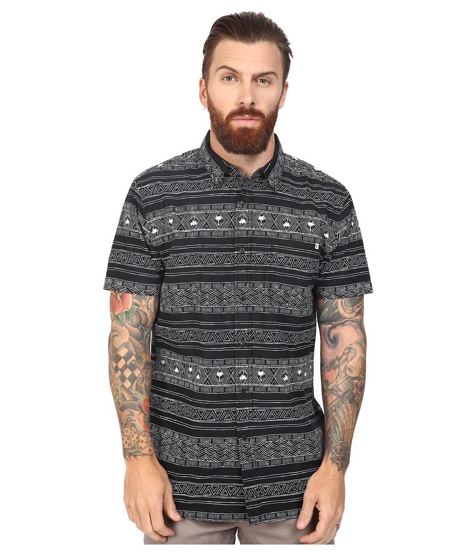 Rip Curl - Cabana Short Sleeve Shirt (Black) Men's Clothing