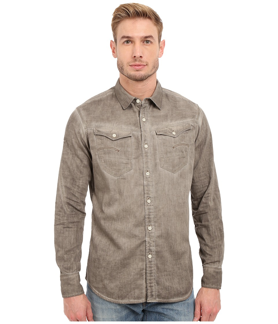 G-Star - Arc 3D Long Sleeve Shirt in Lightweight Lopp Overdye (Dune/Oak Od) Men's Clothing