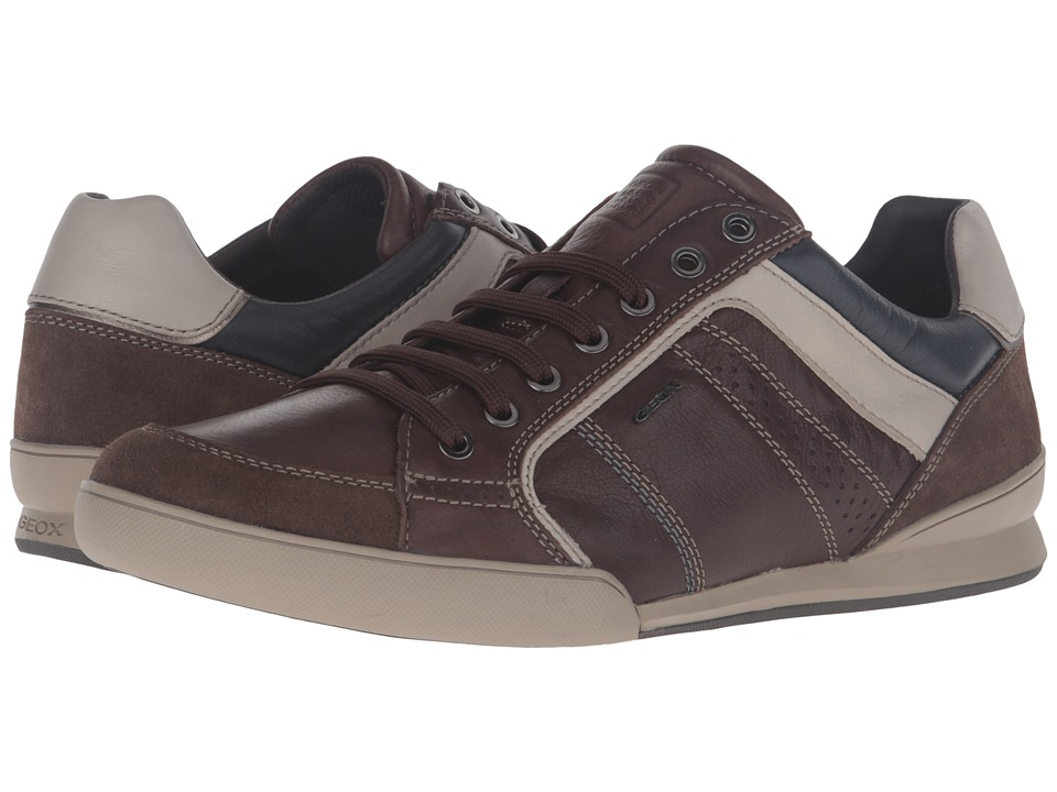 Geox - U KRISTOF3 (Dark Brown/Beige) Men's Shoes