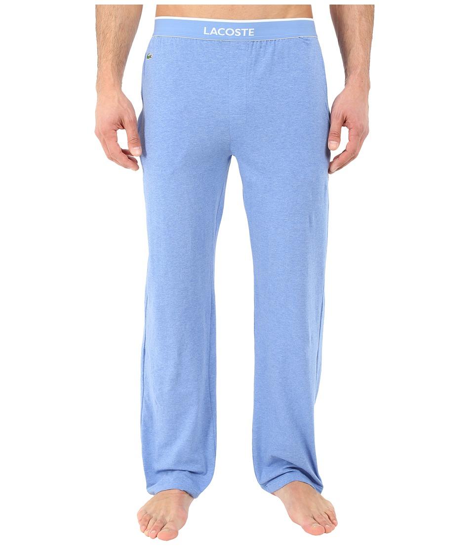 Lacoste - Solid Pants (Light Blue Melange) Men's Pajama