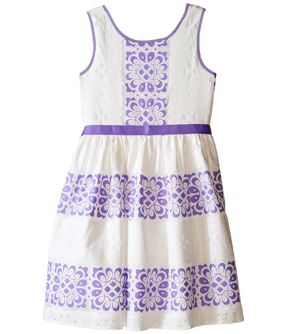 Us Angels - Sleeveless Lace Dress w/ Cut Out Back Skirt (Big Kids) (Lavender) Girl's Dress