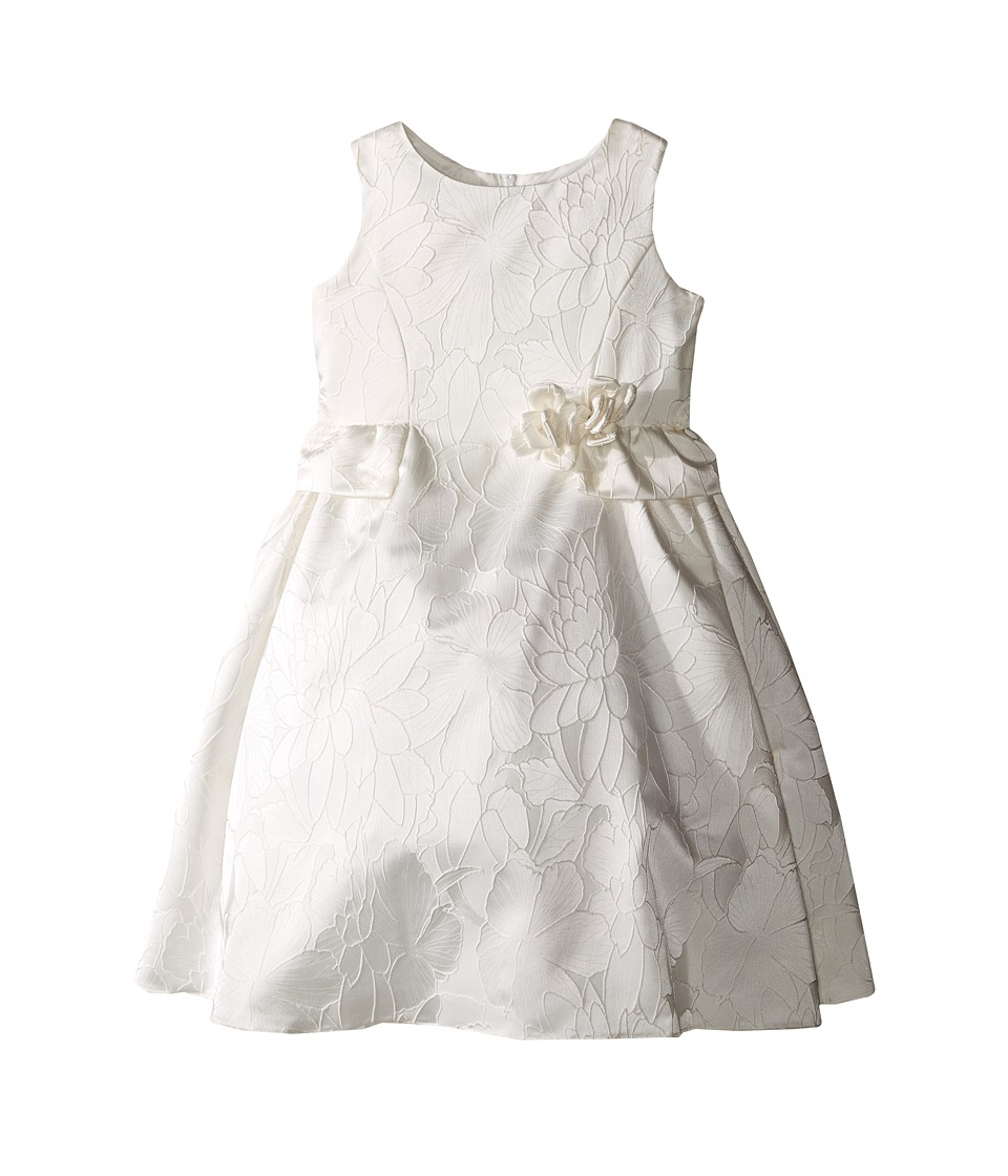 Us Angels - Floral Brocade Ballerina Length Dress (Toddler) (Ivory) Girl's Dress