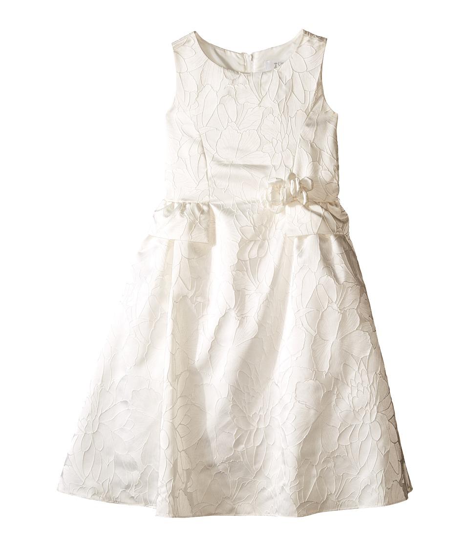 Us Angels - Floral Brocade Ballerina Length Dress (Little Kids) (Ivory) Girl's Dress