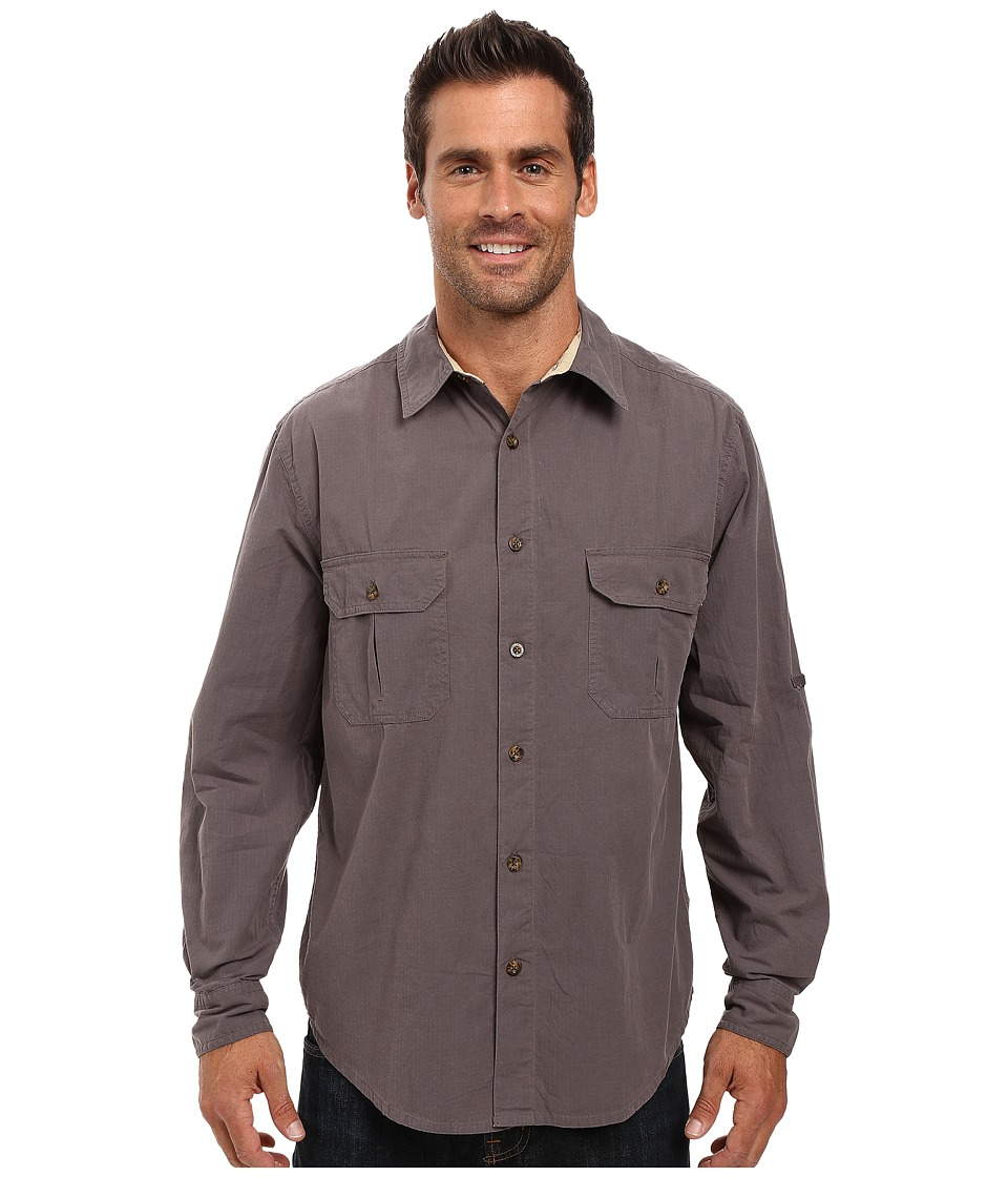 Woolrich - Midway Solid Shirt (Slate) Men's Short Sleeve Button Up