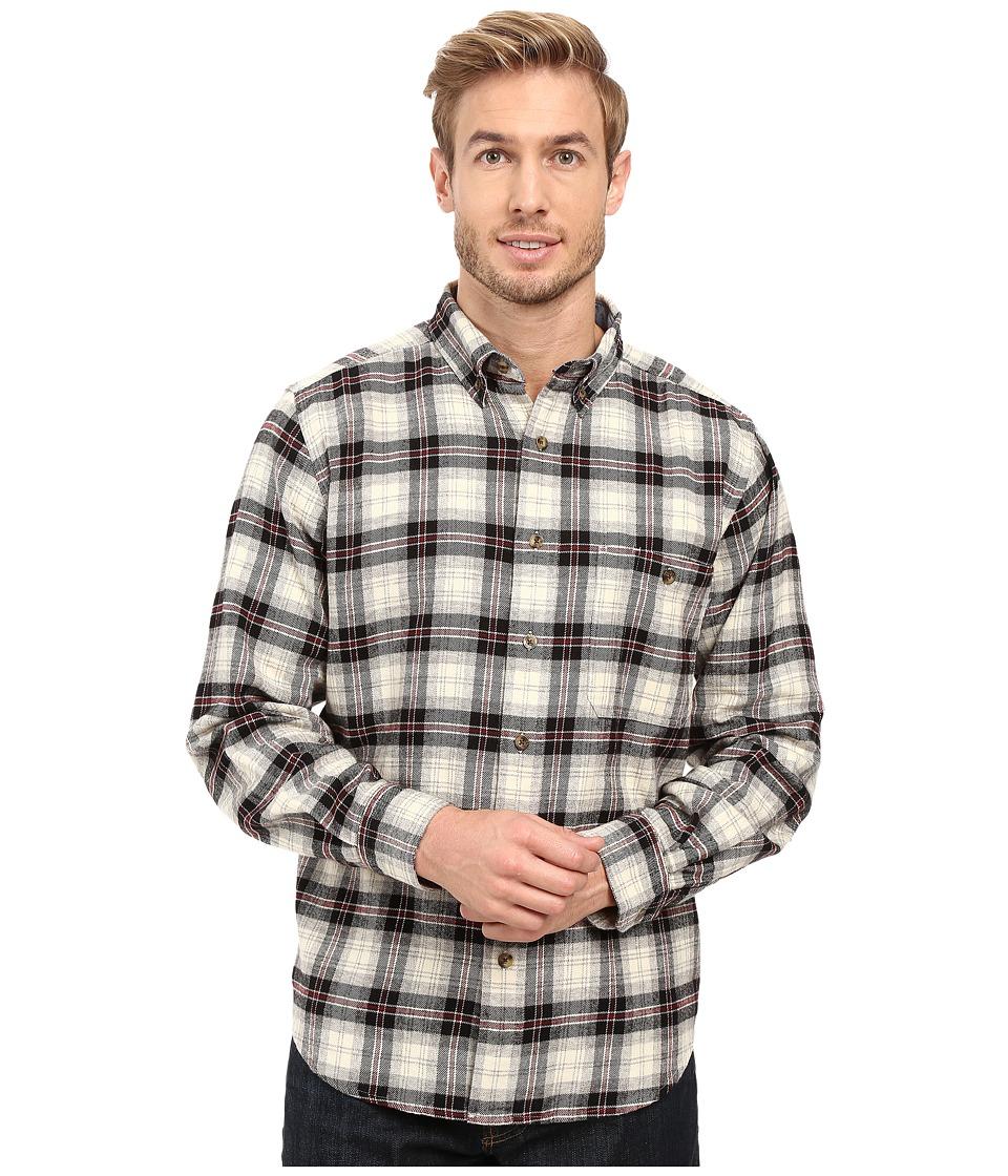 Woolrich - Trout Run Flannel Shirt (Black Plaid) Men's Long Sleeve Button Up