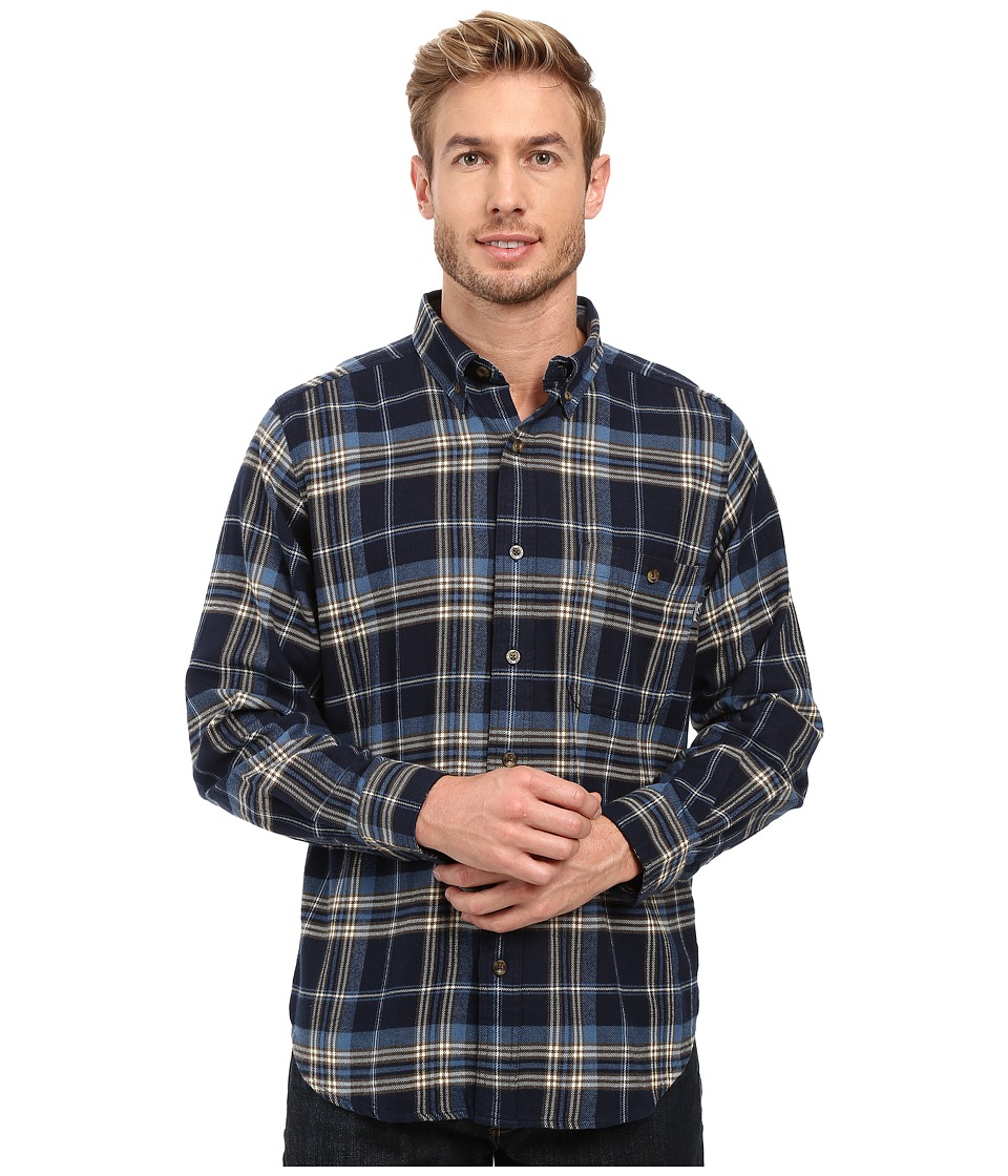 Woolrich - Trout Run Flannel Shirt (Estate Blue) Men's Long Sleeve Button Up