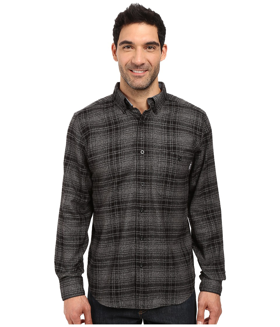 Woolrich Trout Run Flannel Shirt Gray Hunt Plaid Mens Long Sleeve Button Up