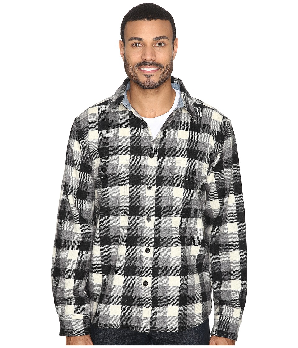 Woolrich - Wool Buffalo Shirt (Gray) Men's Long Sleeve Button Up