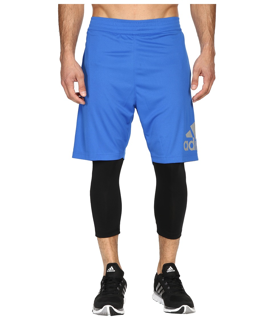 adidas - Crazylight 2-in-1 Shorts (Blue/Black) Men's Shorts