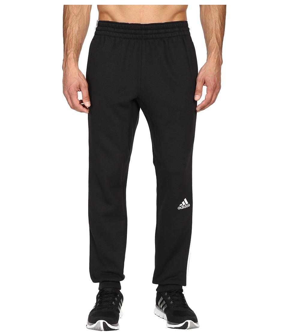 adidas - Slim 3-Stripes Sweatpants (Black/White) Men's Workout