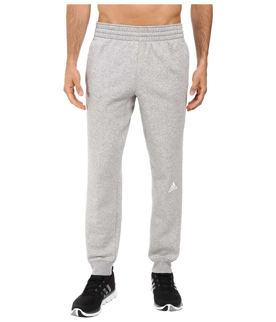 adidas - Slim 3-Stripes Sweatpants (Medium Grey Heather/Medium Grey Heather) Men's Workout