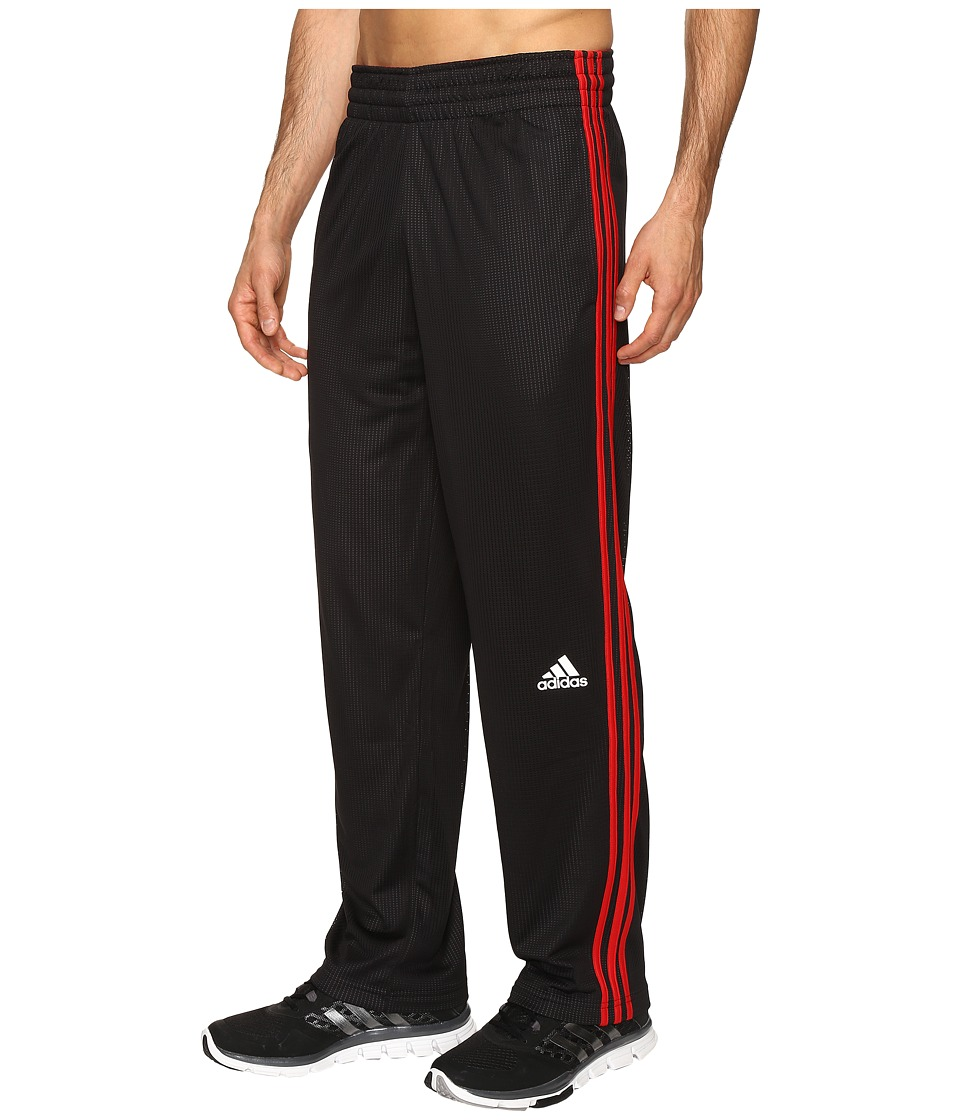adidas - Double Up Pants (Black/Scarlet) Men's Workout