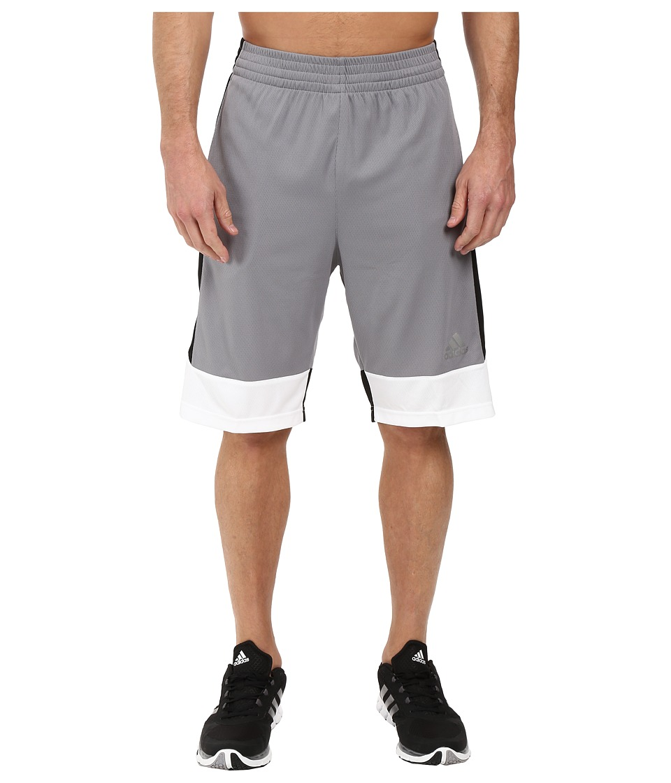 adidas - Key Item Team Shorts (Grey/Black/White) Men's Shorts