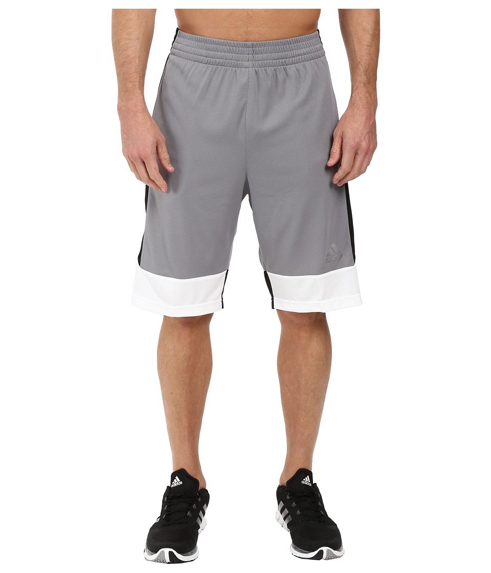 adidas - Key Item Team Shorts (Grey/Black/White) Men's Shorts