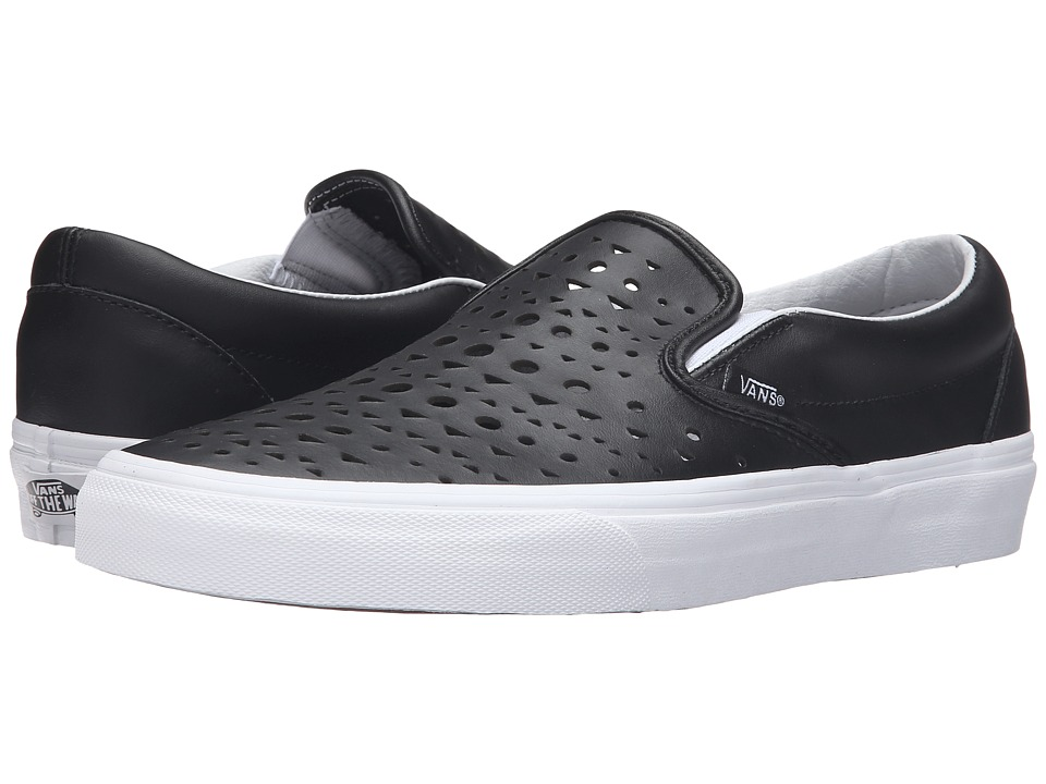 Vans Classic Slip-On ((Cut Out Geo) Black/Blanc de Blanc) Skate Shoes