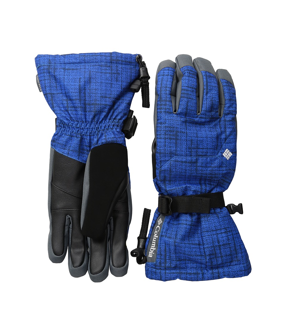 Columbia - Whirlibird Ski Glove (Super Blue Tweed Plaid Print) Extreme Cold Weather Gloves