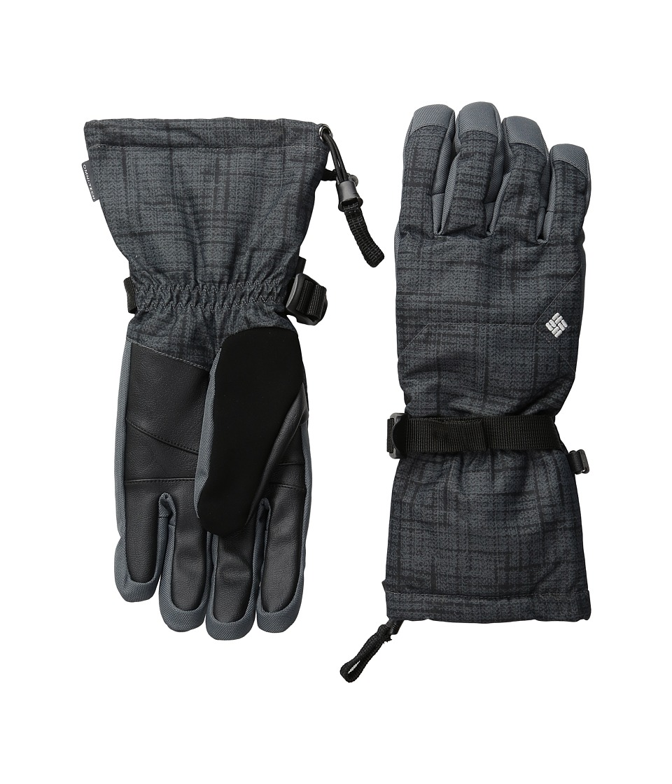 Columbia - Whirlibird Ski Glove (Black Tweed Plaid Print) Extreme Cold Weather Gloves