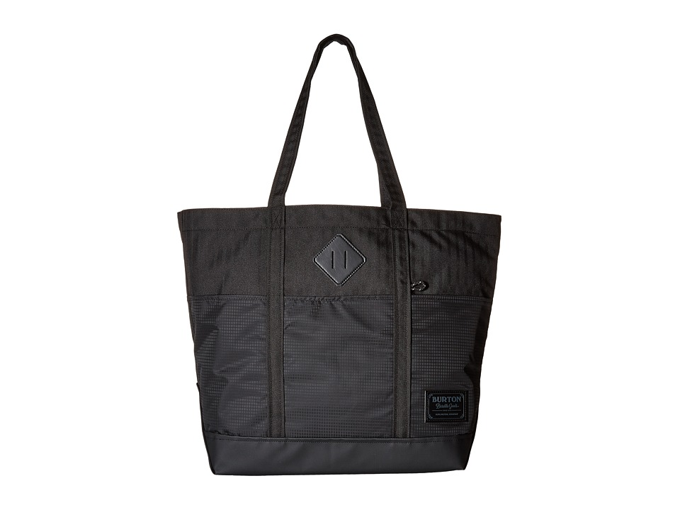 Burton - Crate Tote Medium (True Black Heather Twill) Tote Handbags