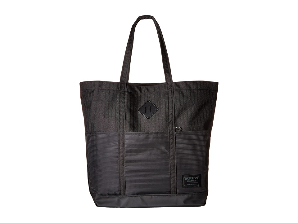 Burton - Crate Tote Large (True Black Heather Twill) Tote Handbags
