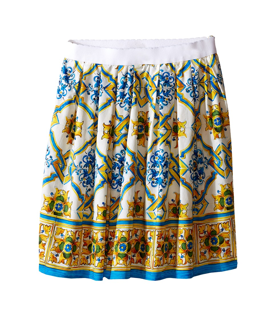 Dolce & Gabbana Kids - Medallion Print Skirt (Toddler/Little Kids) (Tile Print) Girl's Skirt